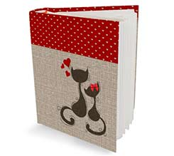 Cats in Love Album 16x20 con Tasche