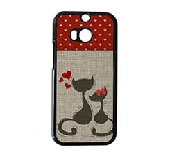 Cover HTC M8 Cats in Love