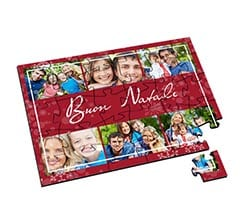 Puzzle in Legno Small Red Christmas