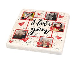 Mattonella vintage I love you collage