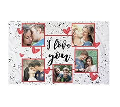 Federa Cuscino I love you collage