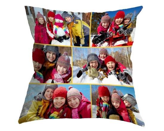 Cuscino collage personalizzato con foto bambini