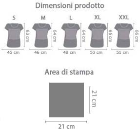 T-shirt donna in cotone Attention area di stampa da personalizzare del prodotto