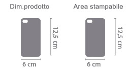 Cover Fashion iPhone 5 area di stampa da personalizzare del prodotto