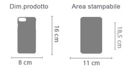 Stampa Cover iPhone 7 Plus 3D area di stampa da personalizzare del prodotto