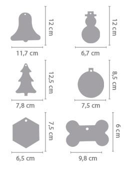 Crea addobbi natalizi in legno masonite for Decorazioni natalizie personalizzate