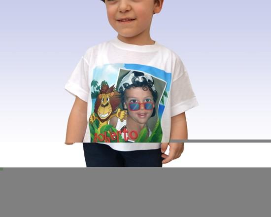 Maglietta personalizzata modello da bambino