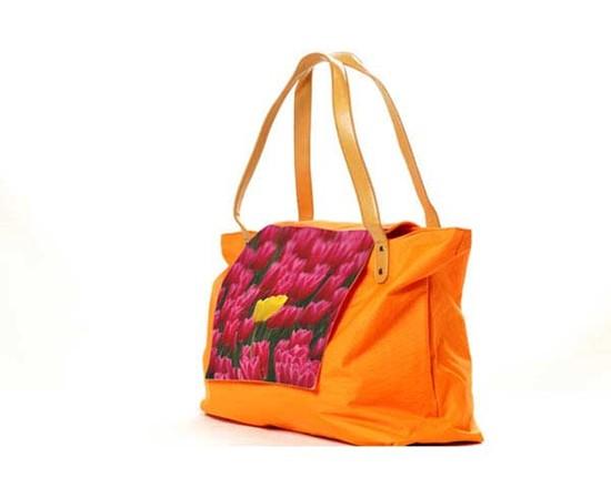 borsa fashion personalizzata con fiori