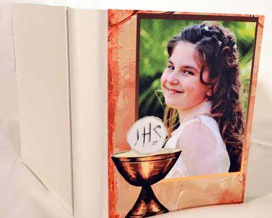 Bambina su copertina fotoalbum personalizzato con foto