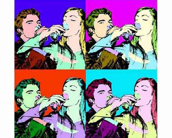 fotografia su tela pop art