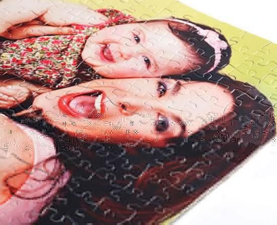 idea regalo puzzle personalizzato con bimba e mamma