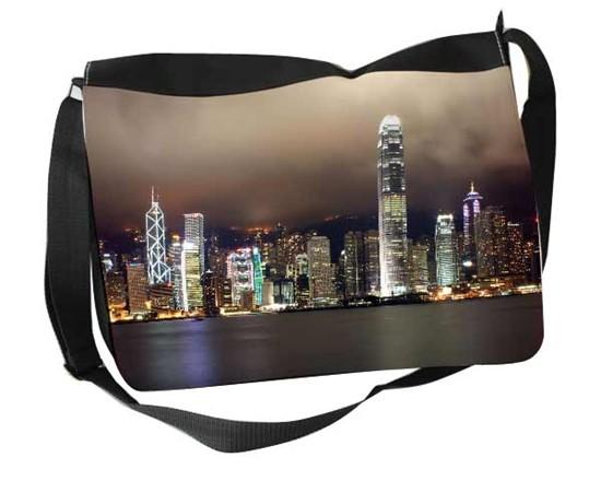 borsa tracolla personalizzata raffigurante città