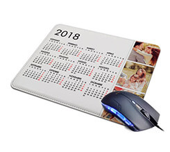 Tappetino Mouse in Pelle Calendario 3 riquadri