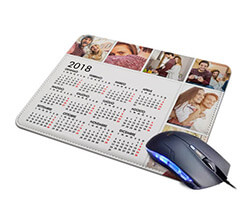 Tappetino Mouse in Pelle Calendario 6 riquadri