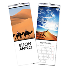 Calendario Multipagina Slim Bianco