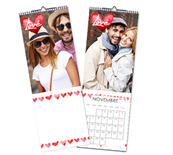 Calendario Multipagina Slim Cuori
