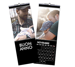 Calendario Multipagina Slim Nero
