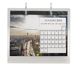 Calendario da tavolo in plexiglass Simple
