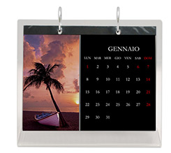 Calendario da tavolo in plexiglass Nero