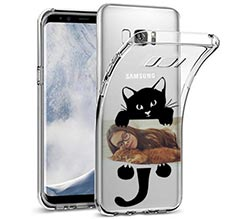 Cover trasparente Samsung S8 Black Cat