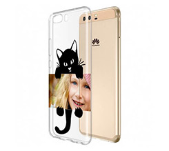Cover trasparente Huawei P10 Black Cat