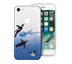 Cover Trasparente iPhone 7 Pinguini
