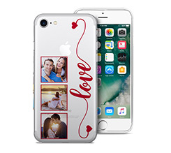 Cover Trasparente iPhone 7 Frame Love