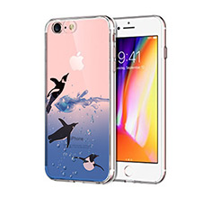 Cover Trasparente iPhone 8 Pinguini