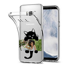 Cover Trasparente Galaxy S8 Plus Black Cat