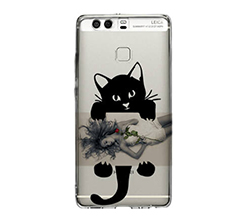 Cover trasparente Huawei P9 Black Cat