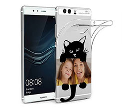 Cover trasparente Huawei P9 Plus Black Cat