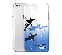 Cover Trasparente iPhone 6 Pinguini