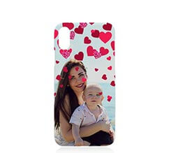 Cover iPhone X 3D Glitter Hearts