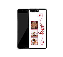 Cover in Silicone Huawei P10 Plus Frame Love