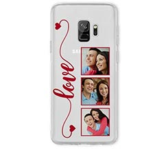 Cover trasparente Galaxy S9 Frame Love