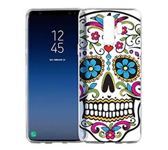 Cover trasparente Galaxy S9 Plus Teschio