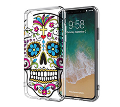 Cover Trasparente iPhone XS Teschio