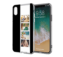 Cover Trasparente iPhone XS Black Collage