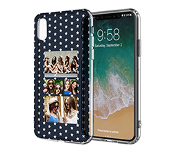 Cover Trasparente iPhone XS Stars