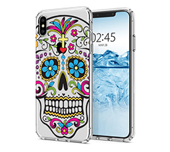 Cover Trasparente iPhone XS Max Teschio