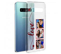 Cover trasparente Galaxy S10 Frame Love