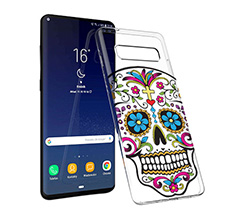 Cover trasparente Galaxy S10 Plus Teschio