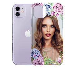 Cover Trasparente iPhone 11 Flowers