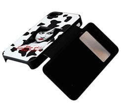 Flip Cover iPhone4 Sportellino Laterale con Grafiche