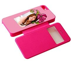 Flip Cover iPhone5 Sportellino Laterale con Grafiche