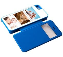 Flip Cover iPhone5 Sportellino Laterale con Collage