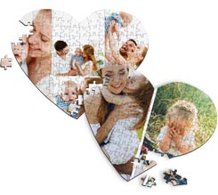 Puzzle a Cuore A4 Collage