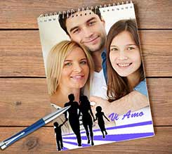 Block notes A4 spirale Love family