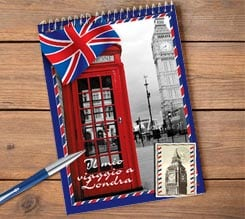 Block notes spirale personalizzato London