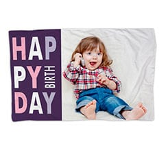 Coperta 150x100 Happy Birthday Viola